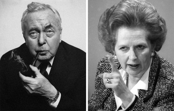 Harold Wilson and Margaret Thatcher