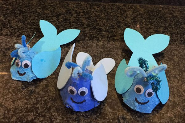 Egg Carton Whale Craft